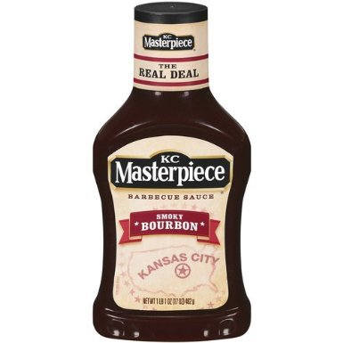 Kc Masterpiece, Smoky Bourbon Barbecue Sauce, 17Oz Bottle (Pack Of 3)