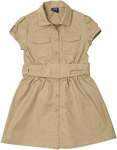 French Toast School Uniforms Canvas Safari Shirtdress Girls Khaki 8