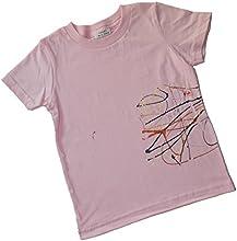 Splatter-Me All Cotton Splatter Painted Toddler Tee Shirt 2T Pink