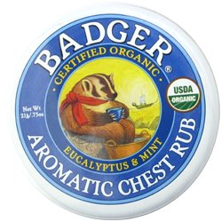 バジャー Badger オーガニックバーム アロマティック チェスト ラブ バーム 21g