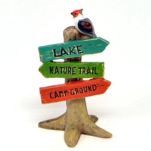 Miniature Fairy Garden Lakeside Direction Sign