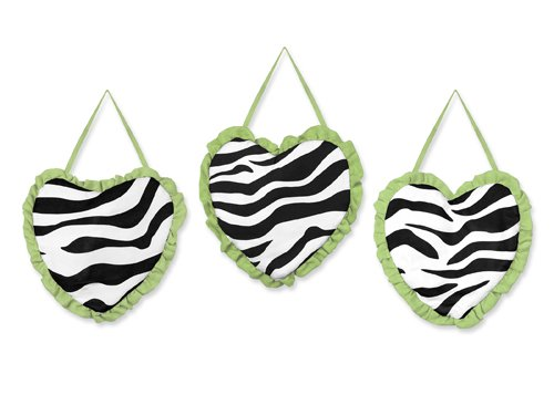 Lime Funky Zebra Wall Hanging Accessories By Sweet Jojo Designs front-228024