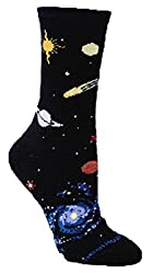 Celestial Black Novelty Adult Socks by Wheel House Designs USA Made