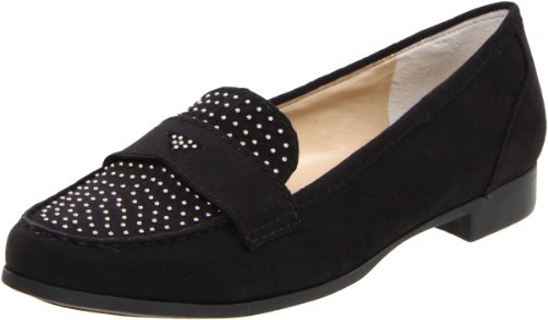 Nine West Women's Sostriking Slip-On Loafer,Black Fabric,9 M US
