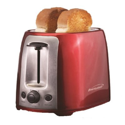 Brentwood Appliances TS-292R 2-Slice Cool Touch/Wide Slot Toaster, Red and Stainless Steel by Brentwood Appliances