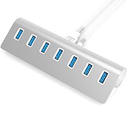 Sabrent Premium 7 Port Aluminum USB 3.0 Hub with 5V/4A Power Adapter (30\