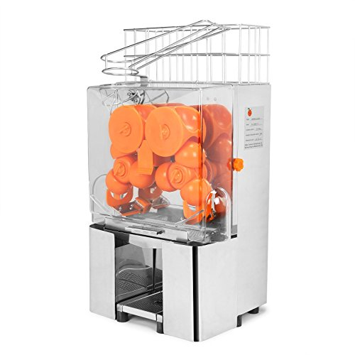 FoodKing Orange Juicer Orange Squeezer Machine Cuisinart Juice Extractor Citrus Lemon Lime Fruit Auto Feed Automatic Commercial Grade Stainless Steel (Silver) (Automatic Lime Juicer compare prices)