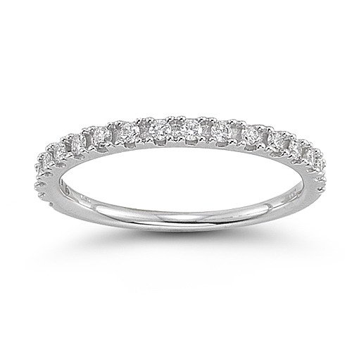 14k White Gold Diamond Anniversary Band (1/4 cttw, H-I Color, I1-I2 Clarity), Size 7