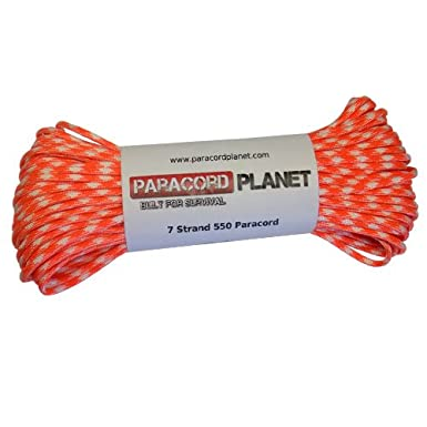 Paracord Planet Nylon 550lb Type III Creamsicle