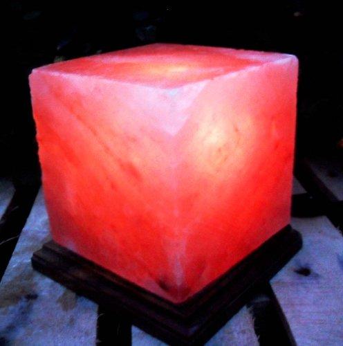 Black Tai Cube Salt Lamp 7 With Cord