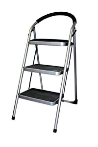 Kennedy Home Collections 3 Step Ladder with Lock