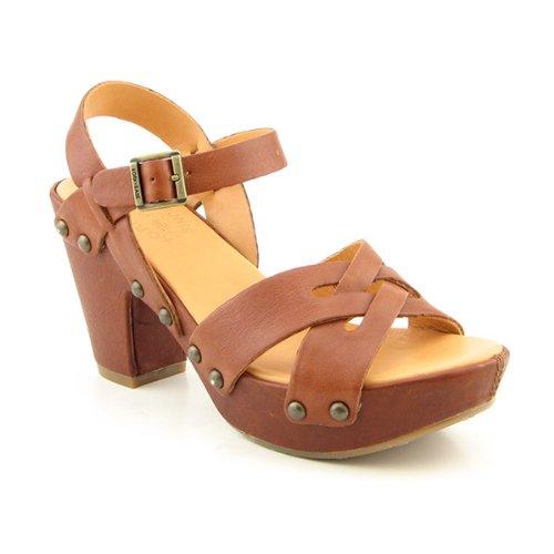 Cheap Kork-Ease Deborah Ankle Strap Platforms Open Toe Shoes Brown Womens (B004X17F5A)