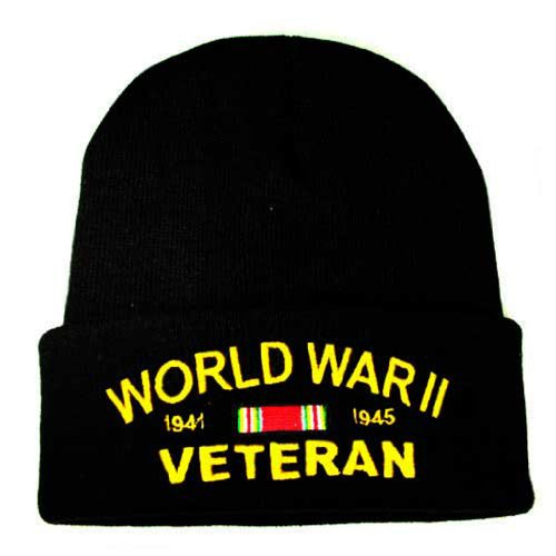 World War II Knit Cap WWII Hats Military Collectibles for Men and Women Gifts