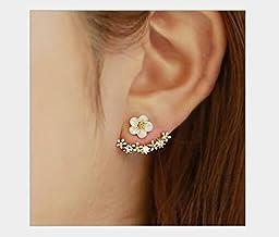 bestwishes2u Little Daisy Flower After Hanging Stud Earrings for Lady Women Girls