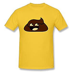 Men's O-Neck T Shirt Happy Shit 100% Cotton
