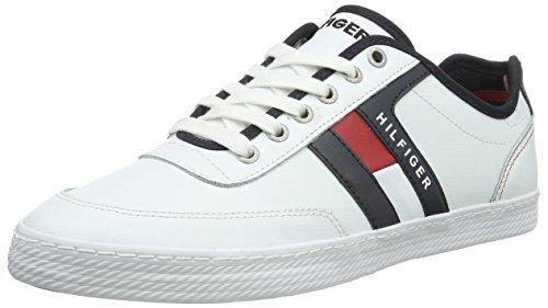 Tommy Hilfiger Herren D2285ONNIE 10A Sneakers, Weiß (R/W/B 910), 42 EU thumbnail