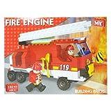 City Fire Engine Building Bricks Set 146 pieces Full instructions