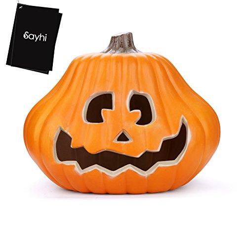 [Halloween Pumpkin, Hoohi Lantern Light Lamp Hanging Halloween Props Pumpkin, Halloween Decoration Hard Plastic Lantern Lamp Pumpkin (14] (Party Glitters Costumes)