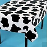 "Set of 6 Lightweight Cow Print Tablecloths 54"" x 72"""