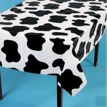 "Fun Express Lightweight Cow Print Tablecloths (Set of 6), 54 x 72"" - 1"