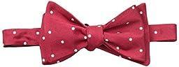 Tommy Hilfiger Men\'s Rwb Dot Self Tie Bow Tie, Red, One Size