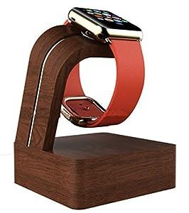 Navitech London Apple Watch 用チャージャースタンド/チャージドック/充電スタンド (ウッド茶)