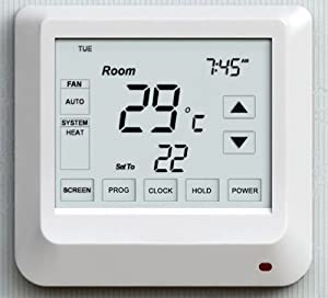 sm pc digital thermostat f r fussbodenheizung mit. Black Bedroom Furniture Sets. Home Design Ideas