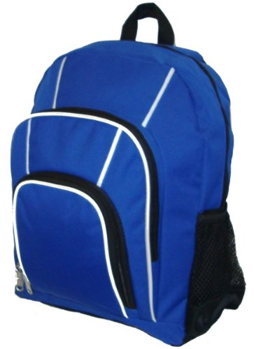 """16"""" Rip-Stop Multi Pocket Backpack [30 Pieces] *** Product Description: Item #: Lm212 - 16"""" Backpack Material: Rip-Stop Dimension: 16""""X12""""X5"""" Features: *1 Large Main Compartment. *2 Zippered Front Pockets. *Mesh Pocket On Both Sides. *Padded Back ***"""
