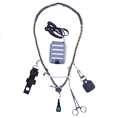 Maxcatch Hand Woven Fly Fishing Lanyard with Fly Box & Streamside Accessories
