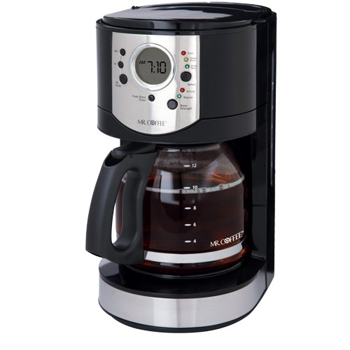 Mr. Coffee CJX21CP 12-Cup Programmable Coffeemaker, Black