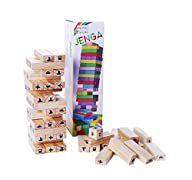 Edugames Pine Wood Jenga – Wood Stacking Fun Family Board Game