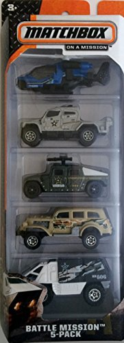 Deluxe 2014 Matchbox Battle Mission 5-Pack Case B Helicopter International Humvee