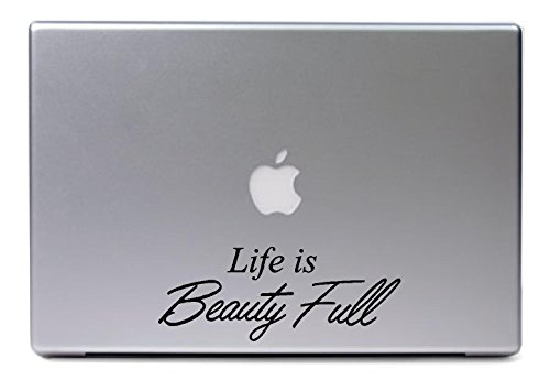 Laptop Mac - Life Is Beauty Full - Cute Decal Matte Black Skins Stickers front-538544