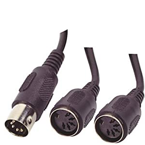 DIN 5-pin splitter cable 1-x male / 2-x female