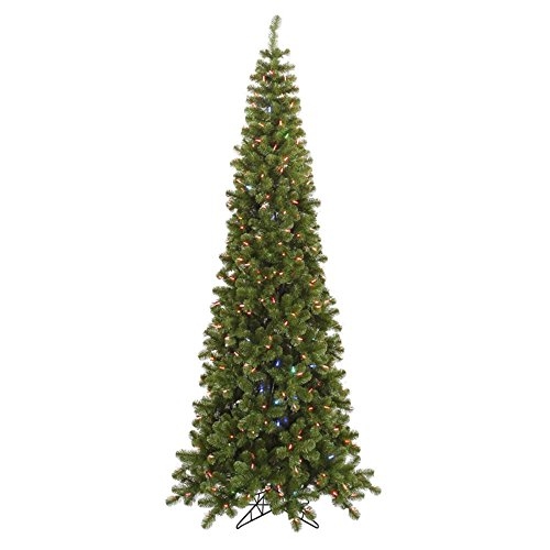 """7' 6"""" Green Artificial Christmas Tree With 400 Led Multi-Color Lights"""