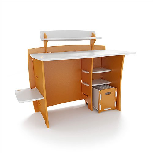 "Legare Furniture MPOM-210 Select Kids Series 43"" Multi-Pack Desk / Cart in Orange and White"