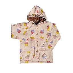 Foxfire Kids Girls Light Pink Cupcake Raincoat, Pink, 4T