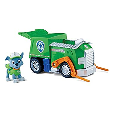 Paw Patrol - 6024018 - Figurine Animation Paw Patrol + Véhicule - Rocky