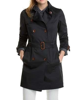 ESPRIT Damen Trench Coat 014EE1G004, Gr. 36 (S), Schwarz (001 BLACK)
