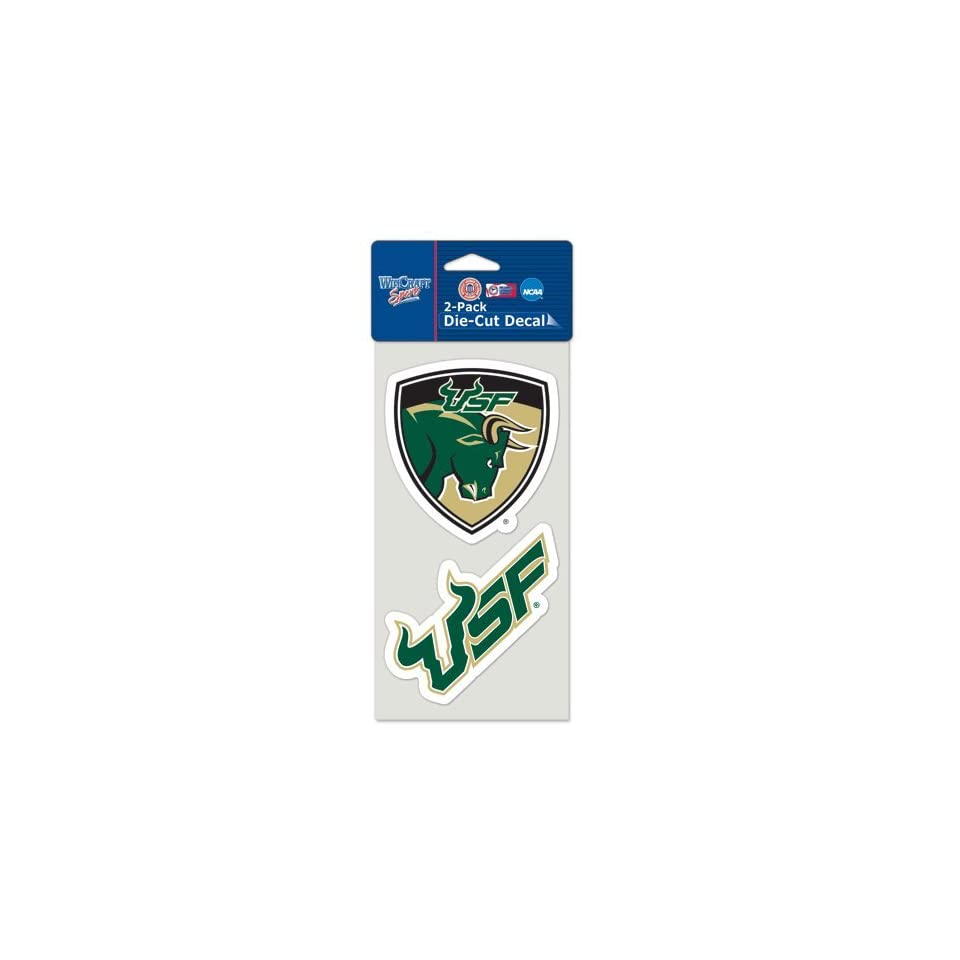 University Of South Florida Die Cut Decal Set Of Two 4x4