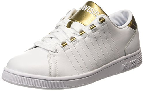 K-Swiss Women's Lozan III Fashion Sneaker, White/Gold, 8 M US