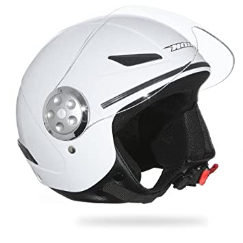 NOX Casque Moto/Scooter Enfant Jet N216 Blanc