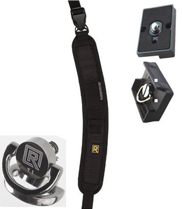 Black Rapid RS-7 Camera Strap, FastenR-T1 with 2 Quick Release Plates for the Manfrotto RC2 Rapid Connect Adapter.