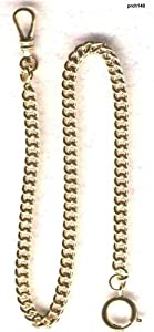 #148 Gold Filled Watch Chain--Made in USA Quality 14KGF with Small Spring Ring-New Stock