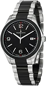 Maurice Lacroix Miros Date Black Dial Stainless Steel Mens Watch MI1018-SS002331
