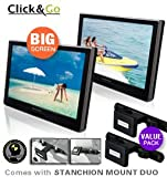 41sqD8MJ1FL. SL160  Big Sales! Nextbase CLICK10 DUO Value Pack   Two 10 Portable Dual Screen Dual DVD Players + Stanchion Mount Duo