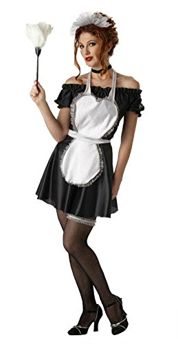 California Costumes Womens French Maid Parlor Halloween Theme Party Dress