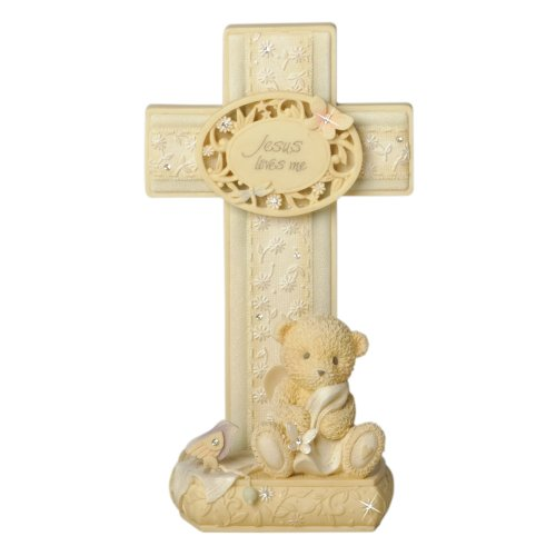 Enesco Foundations Baby Cross With Stand, 6.5-Inch front-1053788