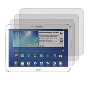 3x kwmobile® Displayschutzfolie MATT und ENTSPIEGELND mit Anti-Fingerabdruckeffekt für Samsung Galaxy Tab 3 10.1 P5200 / P5210 / P5220 - PREMIUMQUALITÄT