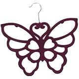 Purple Butterfly Scarf Belt Ties Shawl Necktie Hanger Wardrobe Organiser